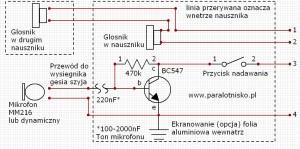 Schemat przedwzmacniacza mikrofonowego