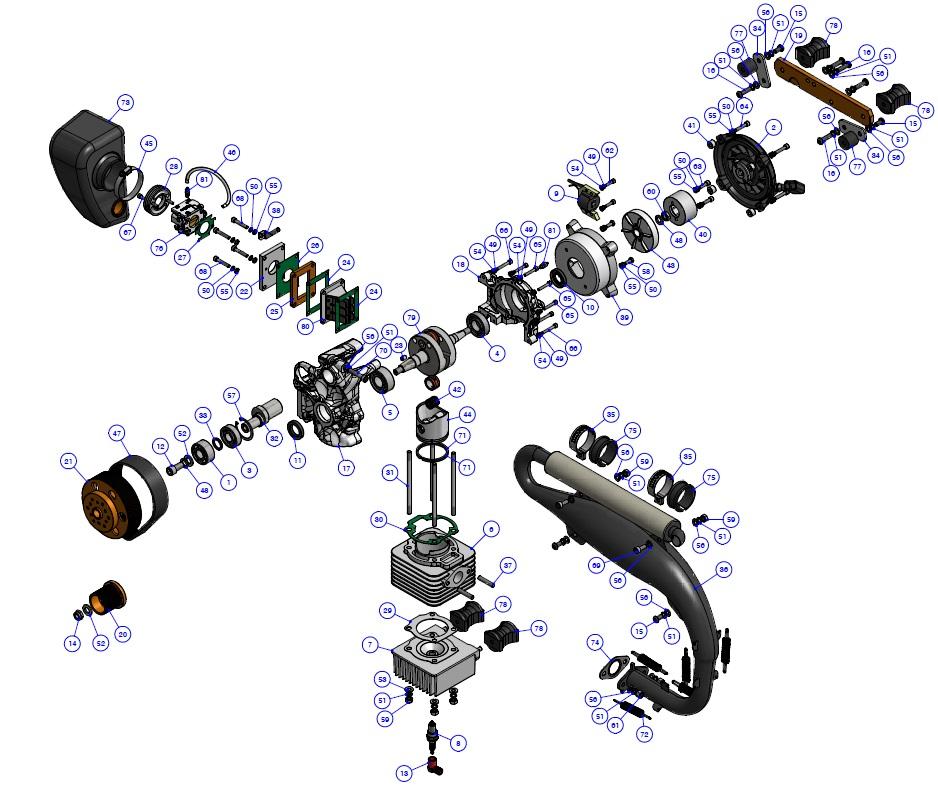 Zestawienie części JR180 manual